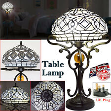 Tiffany Style Table Lamp Bedside Stained Glass Light Handcrafted Desk Lamps UK
