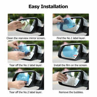 2Pcs Waterproof Protective Car Anti Fog Coating Rainproof Rear View Mirror Film