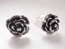 Small Rose Stud Earrings 925 Sterling Silver