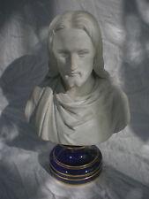 GRAND BUSTE DU CHRIST DRAPE EN BISCUIT DE SEVRES  37,50 CM CIRCA 1900