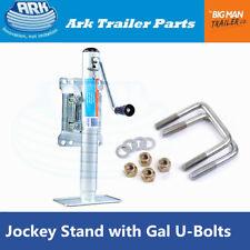 Ark Trailer Jockey Stand Sidewind Swivel 350KG 250MM Extenion with U-bolts