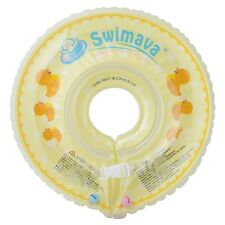 New Swimava Float & Swim Neck Ring Tube Baby Infant Yellow Ducky Japan Import