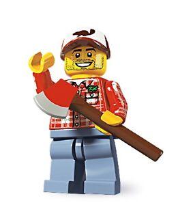 Lego minifig series 5 Lumberjack wood cutter tree forestman ax man
