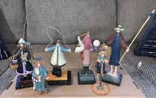 Williraye Studio Lot of 6 Folk Art Figurines (6 in and 4.5 in). Retired