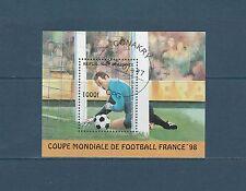 Guinée république  bloc   coupe du monde de football   1997  num : 119  oblitéré