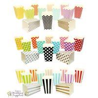 Mini Popcorn Boxes x 12 Small Little Cardboard Favor Foldable Retro Cinema Movie