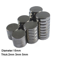 10pcs Round Magnets Rare Earth Neodymium Strong Crafts Magnet Dia 15mm x 2/3/5mm