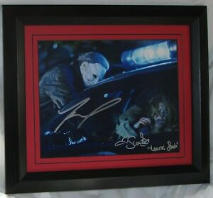 TYLER MANE Signed Scout Taylor-Compton signed Michael Myers Halloween AFTA L#199
