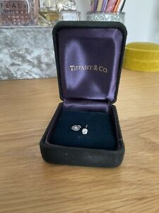 Genuine Tiffany & Co Platinum PT 950 And Diamond Single Stud Earring With Box