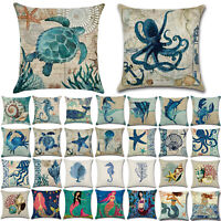 """18"""" Ocean Mermaid Office Home Cushion Cover Bed Home Living Decor Pillow Case"""