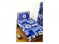 CHELSEA FC empiècement petit lit Football logo Club Set Housse de couette bleu