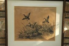 """RARE 1ST STATE 1928 ETCHING BY ROLAND CLARK CALLED """"GREEN WING"""""""