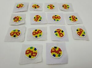 "14 Vintage Rond 1 "" Mandala Verre Semences Perle Tribal Native Craft Appliques"