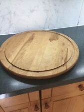 """XLARGE 21"""" Snow River Wooden Lazy Susan turntable Chinese Banquet Table Spinner"""