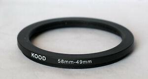 Kood 58mm - 49mm step down ring.