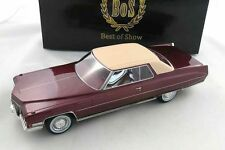 Cadillac Coupe de Ville Red Metallic 1972 - Limited 1000 - BOS 1:18  - RARITÄT