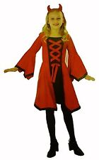 Girl's Dazzling Red Devil Halloween Costume Size Small NEW Dress & Horns