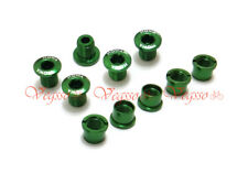 NEW MOWA ALLOY CRANK CHAINRING BOLTS SCREWS SHIMANO 5pairs, GREEN