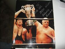 Vintage Wrestling 11 X 14 Signed Photo Of Nikita Koloff The Russian Nightmare