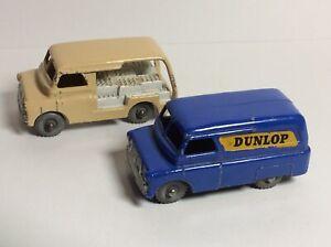 Matchbox Lesney 25 Bedford Dunlop Van & 29 Bedford Milkman Van G-VG 1950/60's