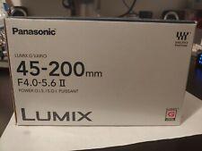 Panasonic Lumix G Vario 45-200mm F/4.0-5.6 II AF OIS Lens