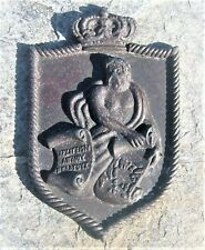 SUPERB VINTAGE ROYAL GREEK NAVY AEGEAN SEA COMMAND ALUMINUM CREST PLAQUE 1950's