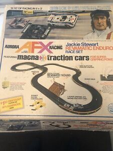 AURORA AFX  JACKIE STEWART REVAMATIC CHALLENGE RACE SET: plus additional  track