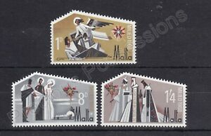 MALTA MNH STAMP SET 1968 CHRISTMAS STAR OF BETHLEHEM SG 409-411
