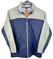 NWT Nike F1USH Blue & Gray Full Zip Nylon Windbreaker Hoodie Jacket Men's Size L