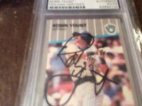 1989 fleer robin yount autograph psa/dna bold