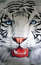 Water Tiger Face Beach Bath Large Towel 40 x 70 Velour