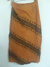 """""""Funky People"""" Long Hippy Style Orange Brown Long Skirt size Small Boho"""