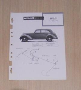 DAIMLER DB18 2 ½ L GIRLING 1946-49 Brief Maintenance Installation Brakes Guide