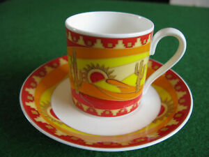 Villeroy Boch HeinRich 'Route 66' Espresso Cup and Saucer.....