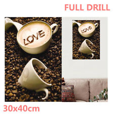 Full Drill Coffee & Love Heart 5D Diamond Painting Embroidery Cross Stitch AU