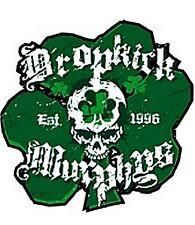 Dropkick Murphys Shamrock vinyl sticker 95mm x 100mm (cv)