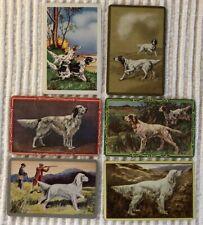 6 Vintage Playing Cards ~ Sporting/Hunting Dogs ~Men ~1 Blank Swap ~ Extra Joker