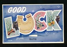 Somerset BATH Good Luck Pocket Novelty Used 1957 PPC