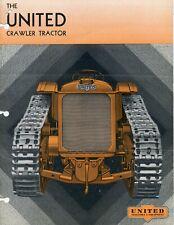 United Bulldozer Brochure: Crawler Tractor & Equipment Catalog - 1930