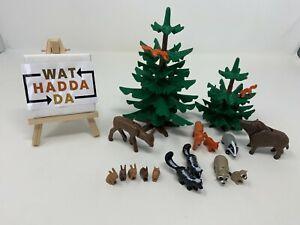Playmobil Tannen und Waldtiere, Fantasie Set, gereinigt, gebr, guter Zustand