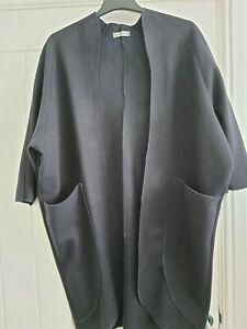 Ladies navy wool coat size 14/16