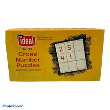 Vintage Math Cross Number Addition Puzzles Beginner No. 786