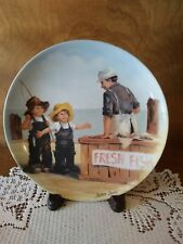 """Jeanne Down's """"Fish Story"""" 1983, Friends I Remember Collector Plate"""