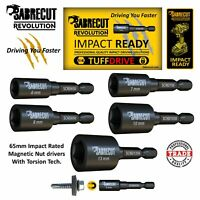 Sabrecut Nut Driver Hex Head Impact Nut Runners / Socket Driver Various Sizes