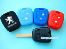 PEUGEOT 206 307 SILICONE CAR KEY COVER CASE HOLDER NEW ACCESSORIES REMOTE