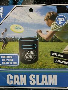 Frisbee Can Slam Game Outdoor Disc Flying Beach Backyard Portable Goal