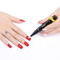 LEMOOC 5ml Rotating Pen Style Top Coat Base Coat UV Gel Soak Off Nail Gel Polish