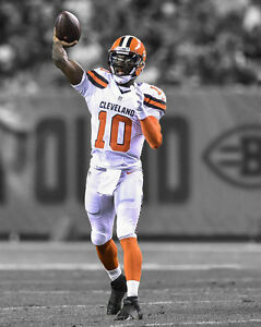 Cleveland Browns ROBERT GRIFFIN III Glossy 8x10 Photo RG3 Print Spotlight Poster