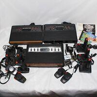 Atari 2600 Consoles / Sears Tele-Games w/ Controllers AS-IS PARTS/ REPAIR (READ)
