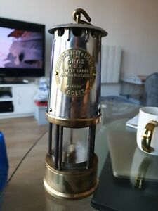 ECCLES TYPE GR6S PROTECTOR COAL MINERS DAVY LAMP SAFETY LAMP APPROVAL NO. B2/233